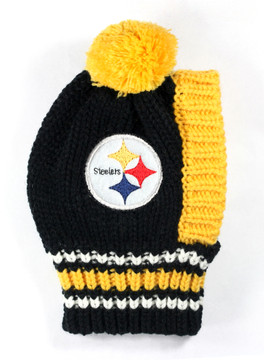 1ca7a3379 Pittsburgh Steelers NFL Football Knit Hat For Dogs - Hot Dog Collars