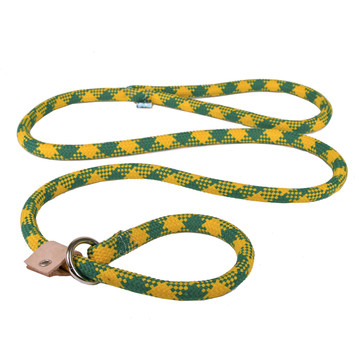 Gold and Green Rope Slip Leash For Dogs