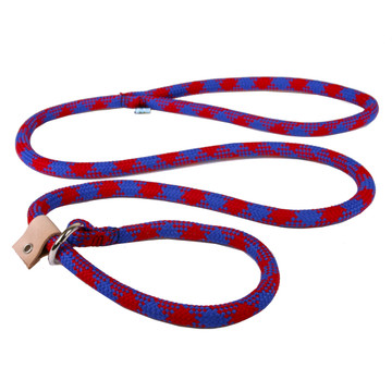 Blue and Red Rope Slip Leash For Dogs