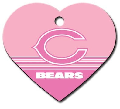 Chicago Bears PINK Pet ID Tag - With Engraving