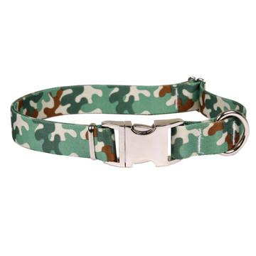 Camo Premium Metal Buckle Dog Collar