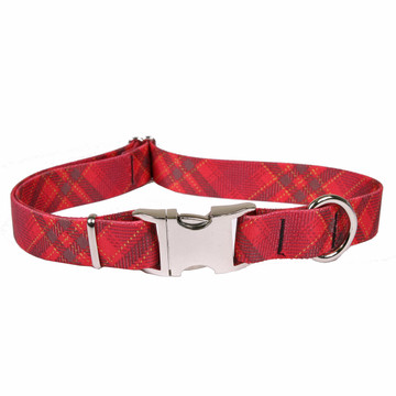 Red Kilt Premium Metal Buckle Dog Collar