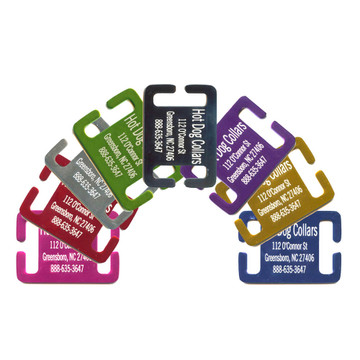 Personalized Slide On Collar Tag  For Dogs