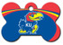 Kansas Jayhawks Engraved Pet ID Tag