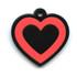 Hot Dog Pet ID Tag - Heart Shaped