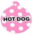 Pink Polka Dot HD Dog ID Tag