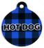 Buffalo Plaid Blue HD Dog ID Tag