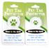 Buffalo Plaid Red HD Pet ID Tag