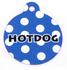 Navy Blue Polka Dot HD Pet ID Tag
