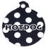 Black Polka Dot HD Dog ID Tag