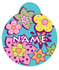 Flower Power HD Dog ID Tag
