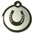 Swarovski Crystal and Stainless Steel Horseshoe Pet ID Tag