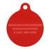 Geometric Red HD Pet ID Tag
