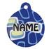 Geometric Blue HD Pet ID Tag