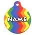 Rainbow Chevron HD Pet ID Tag