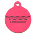 Island Floral Pink HD Dog ID Tag