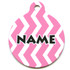 Chevron Stripes Watermelon HD Pet ID Tag