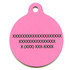 Chevron Watermelon HD Pet ID Tag