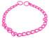 pink chain dog collar