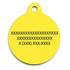 Caution Hi-Def Dog ID Tag