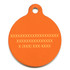 Fall Argyle Plaid HD Pet ID Tag