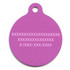 Purple Argyle Plaid HD Pet ID Tag