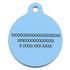 Blue Pineapples HD Pet ID Tag