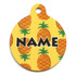 Yellow Pineapples HD Pet ID Tag