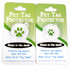 Ghost Party HD Pet ID Tag