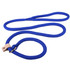 Braided Rope Slip Leash For Dogs With Leather Stop