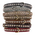 Color Leather 1-Row Crystal Dog Collar