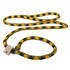 Black and Gold Rope Slip Leash For Dogs