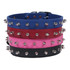 Hot Dog Spiked Leather Collar