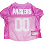 Green Bay Packers PINK NFL Football Pet Jersey