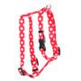 "Strawberry Polka Dot Roman Style ""H"" Dog Harness"