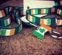 Irish Pride Bone Shape Dog ID Tag - With Engraving