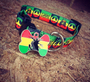 Rasta Dog ID Tag - With Engraving