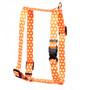 "Orange Polka Dot Roman Style ""H"" Dog Harness"
