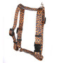 "Leopard Skin Roman Style ""H"" Dog Harness"