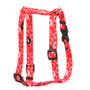 "Kisses Red Roman Style ""H"" Dog Harness"