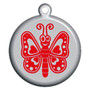Butterfly Dog ID Tag - With Engraving