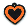 Hot Dog Dog ID Tag - Heart Shaped