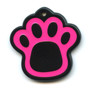 Hot Dog Dog ID Tag - Pawprint Shaped