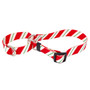 Red & Green Geometric Christmas Prints - Personalized Martingale Pet Collar