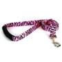 Zebra Pink EZ-Grip Dog Leash