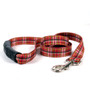 Tartan Red EZ-Grip Dog Leash