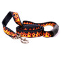 Red Flames EZ-Grip Dog Leash