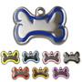 "Engraved ""Steel"" & Enamel Dog ID Tag"