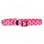 Valentine Polka Dot Martingale Dog Collar
