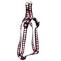 Pink Argyle Step-In Dog Harness